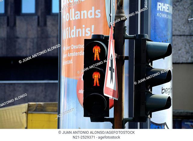 Traffic lights. Cologne, North Rhine-Westfalia, Germany, Europe