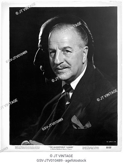 Louis Calhern, Publicity Portrait for the Film, The Magnificent Yankee, MGM, 1950