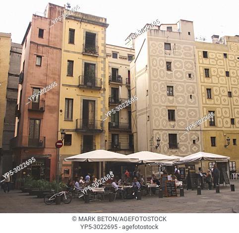 Plaça de Santa Maria La Ribera, Barcelona, Spain