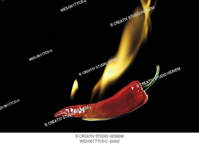 Burning peperoni