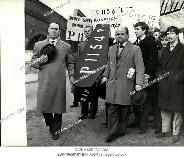 Jan. 01, 1965 - The 'Plane Makers' come to London. Demonstration Against Aircraft contract cancellations. Two special trains arrived at Waterloo Station this...