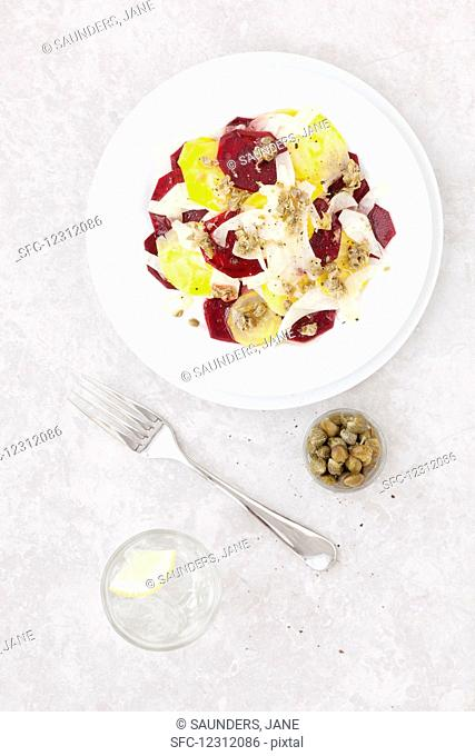Beetroot Fennel Salad with capers