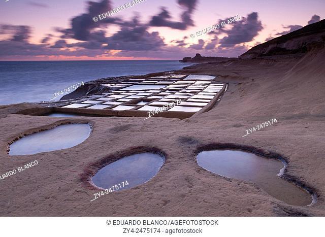 Salt pans. Malsalforn. Gozo Isle. Malta. Europe