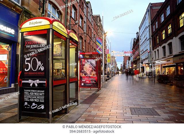 Callender Street of Belfast, Northern Ireland