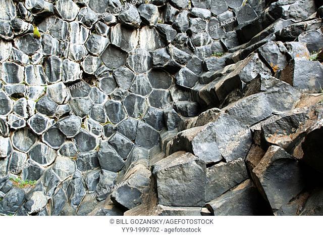 Rock Formations at Hljodaklettar in Vatnajokull National Park - North Iceland