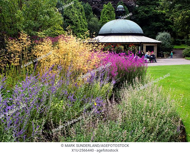 The Magnesia Well Cafe in Summer Valley Gardens Harrogate North Yorkshire England
