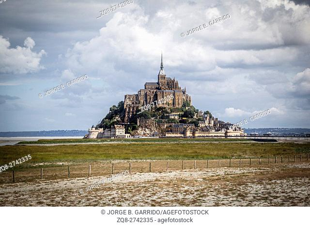 Mont St Michel world heritage in Normandy, France