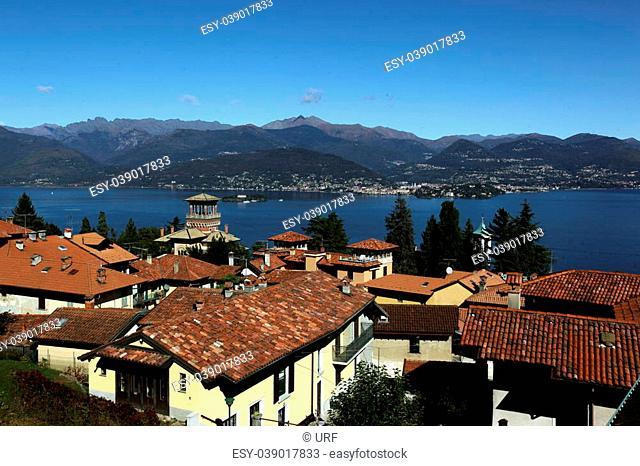 The Village of Stresa on the Lago Maggiore in the Lombardia in north Italy
