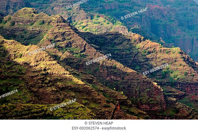 Craggy rocks in Waimea Canyon