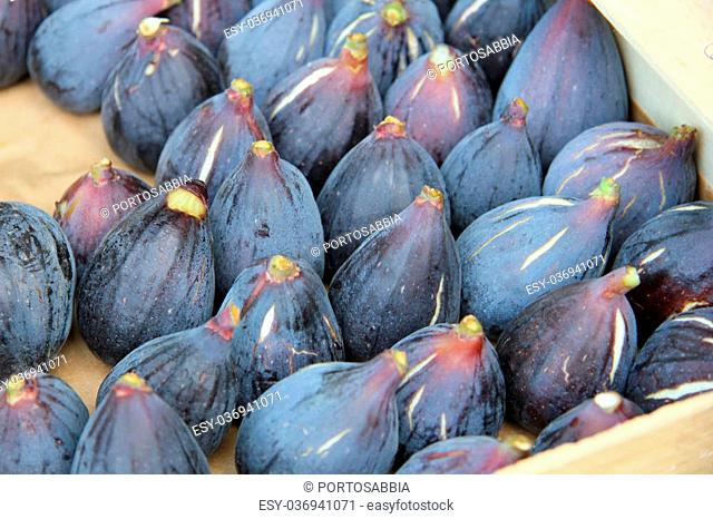 Fresh figs at a local market in the Provence, France