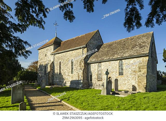 Saxon church of St Mary in Sullington village, West Sussex, England