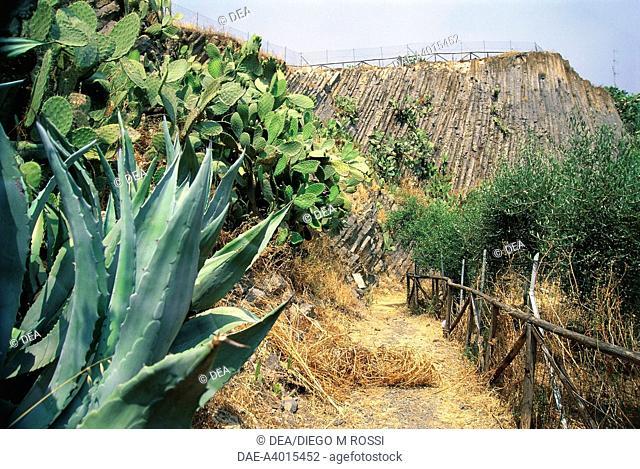 Italy - Sardinia Region - Guspini (Province of Cagliari), columnar basalts