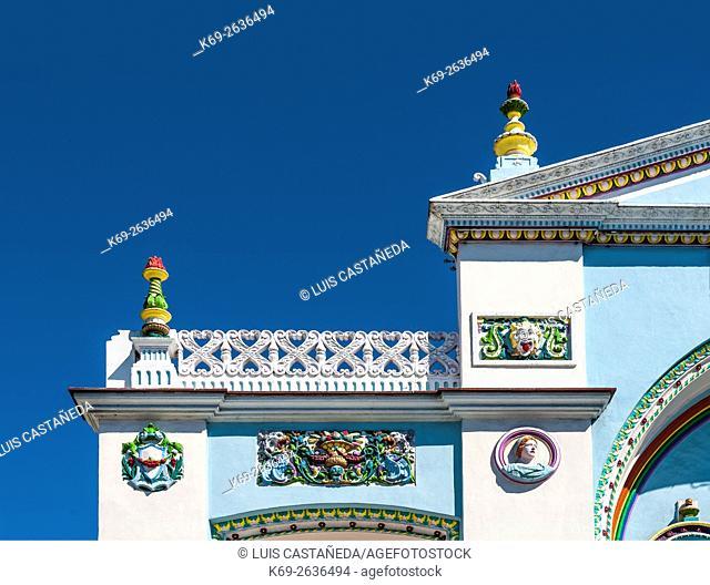 Facade Decoration Detail Strand Cinema. Key West. Florida. USA