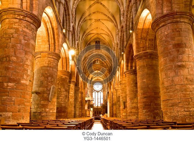 Interior of St  Magnus cathedral, Kirkwall, Orkney, Scotland