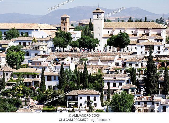 District of the Albaicin, Granada, Andalusia, Spain, Europe