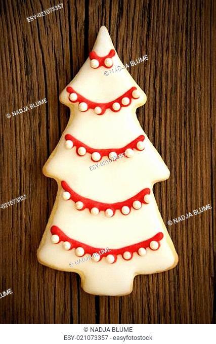 Christmas Tree Cookie on Wood VI