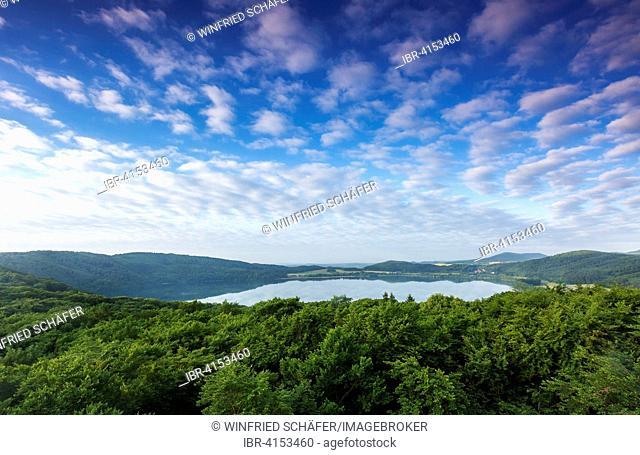 Laacher See volcanic lake, Vulkaneifel, Rhineland-Palatinate, Germany