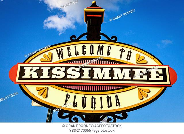 Welcome To Kissimmee Sign, Old Town Kissimmee, Florida, USA