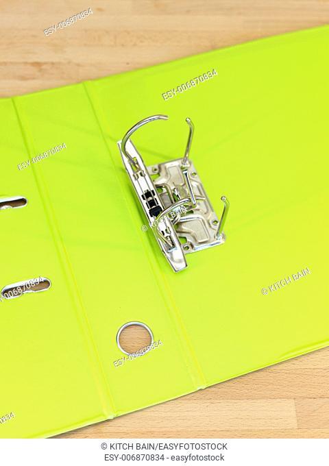 A close up shot of an A4 ring binder
