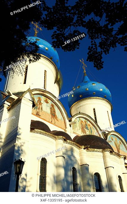 Russia, Moscow Oblast, Sergiyev Posad, Trinity Lavra of St  Sergius, UNESCO World Heritage Site, Golden Ring