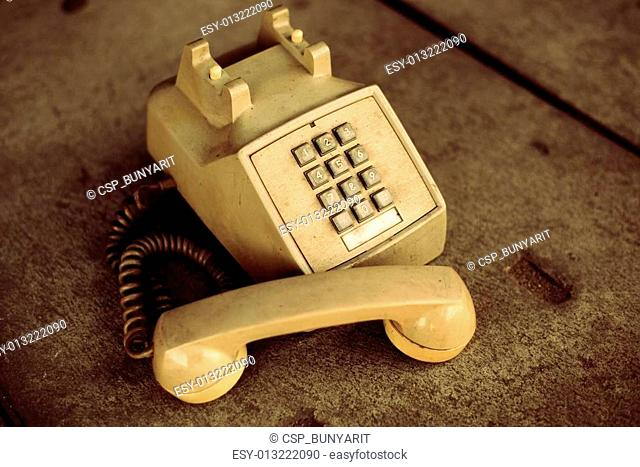Old phones vintage condition