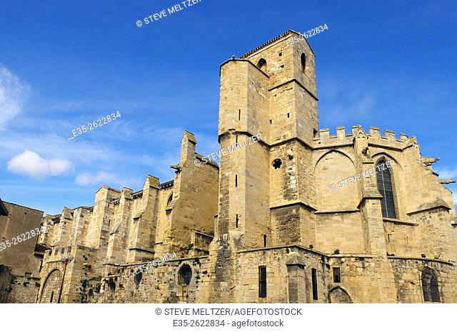 The Church of Notre Dame de la Mourguie, Narbonne France, 13-14th century. It is also the Museum of Lapidary