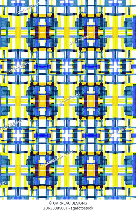 Blue and yellow geometric pattern
