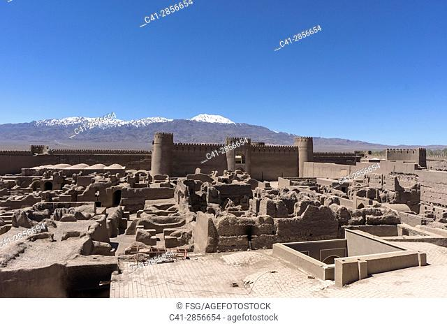 Ancient adobe citadel in Rayen, a small town in the skirts of Mt. Hezar, 100 km from Kerman. Iran