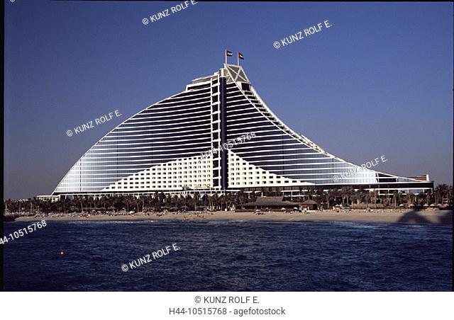 10515768, architecture, Dubai, UAE, Arab Emirates, Middle East, hotel, Jumeira Beach, coast, sea, modern, sailing ship shaped