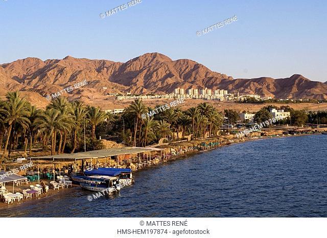 Jordan, Al Aqaba Governorate, coast at Al Aqaba City