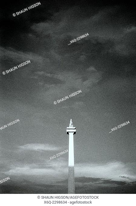 The National Monument in Merdeka Square in Jakarta in Java in Indonesia in Southeast Asia Far East