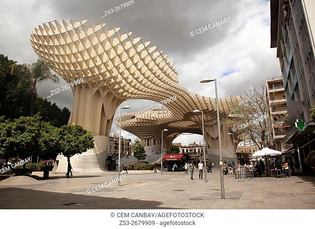 Metropol Parasol in Plaza de la Encarnación Square, Seville, Andalusia, Spain, Europe