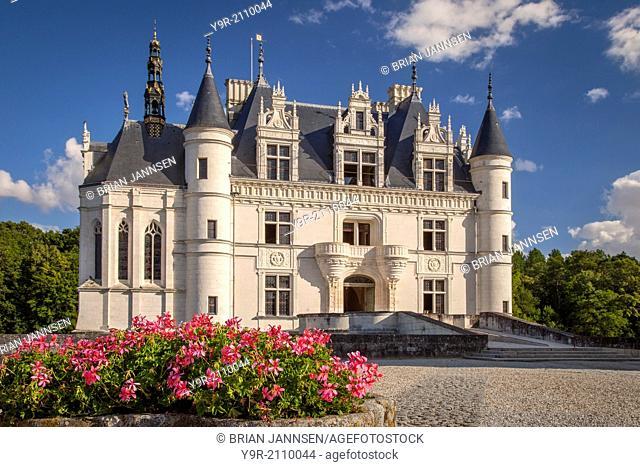 Entrance to Chateau Chenonceau, Indre-et-Loire, Centre France