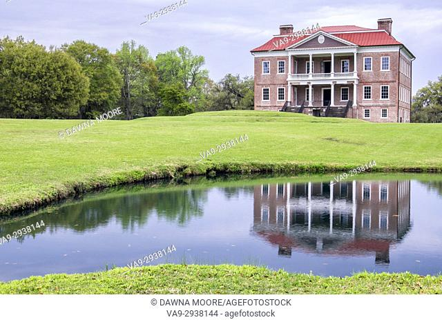 Drayton Hall in Reflection,Charleston, South Carolina