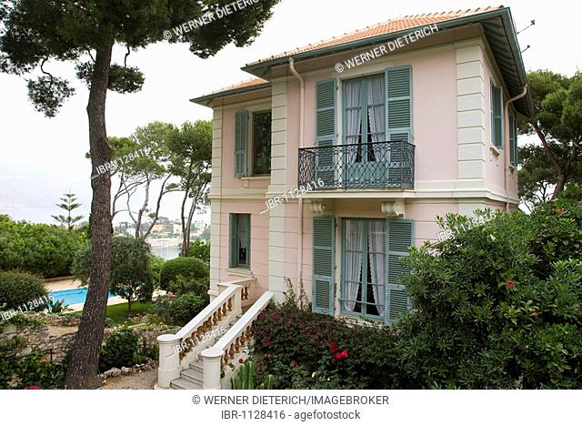 Small villa with a swimming pool, luxury, Cap Ferrat, near Nice, Cote d'Azur, France