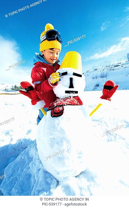 A Boy And Snowman,Korean
