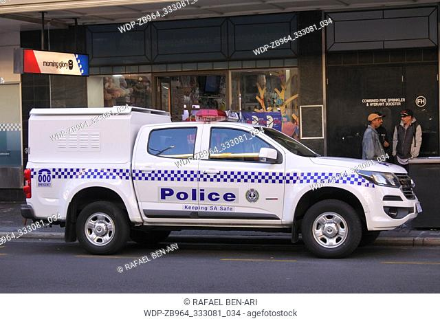 South Australia police vehicle. South Australia Police have over 5000 active sworn members that currently focus on preventing hate crimes