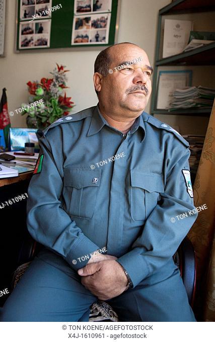Sidiq Khan, head training police, Kunduz, Afghanistan