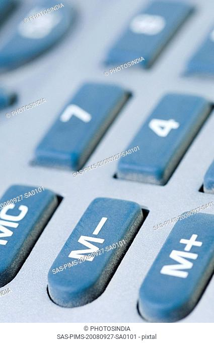 Close-up of buttons of a calculator