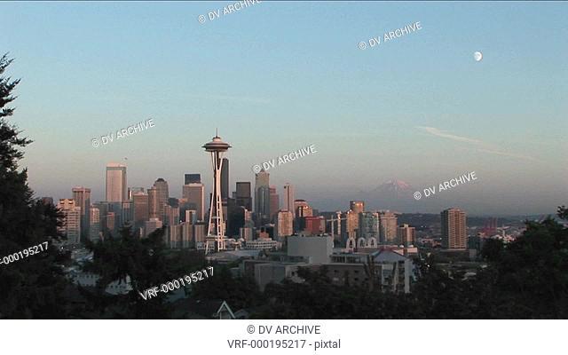 The Seattle, Washington Space Needle at day