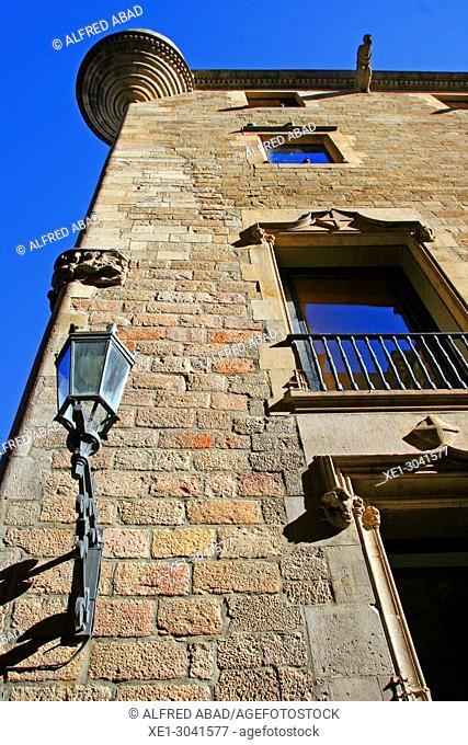 Lamppost, Gothic Quarter, Barcelona, Catalonia, Spain