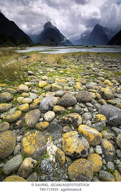 Mitre Peak, Milford Sound, Fiordland National Park, South Island, New Zealand
