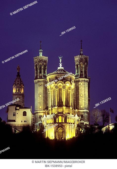 Basilica of Notre Dame de Fourviere, Lyon, Rhône-Alpes, France, Europe
