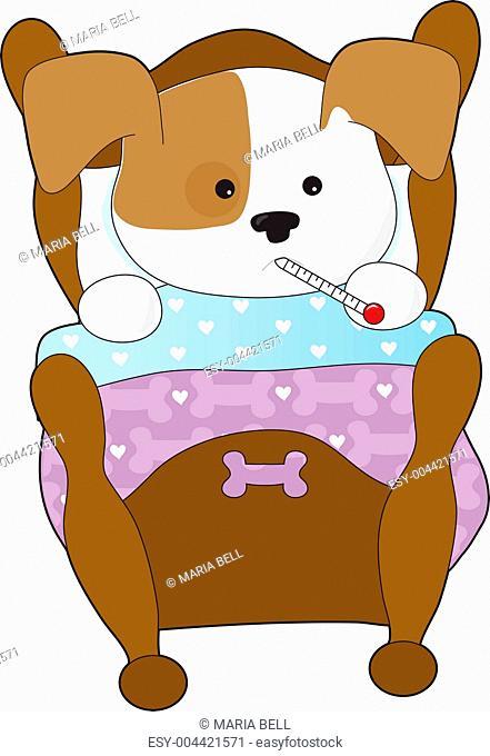 Cute Puppy Sick