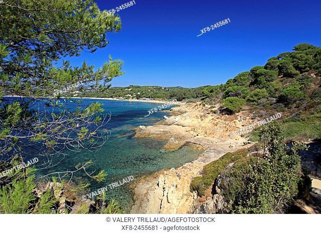 Beautiful coast around La Croix Valmer, Var, Côte d'Azur, French Riviera, France