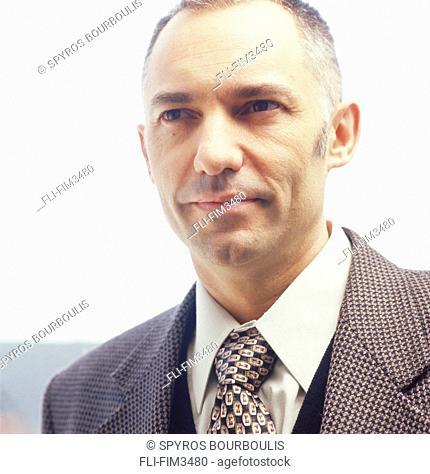 Portrait of a Businessman, Bainville, Quebec