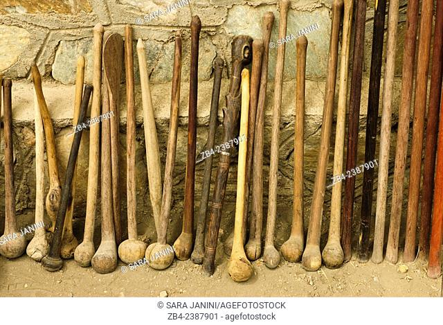 Masai souvenirs, Olduvai Gorge Archaeological Museum, Ngorongoro Conservation Area, Tanzania, East Africa