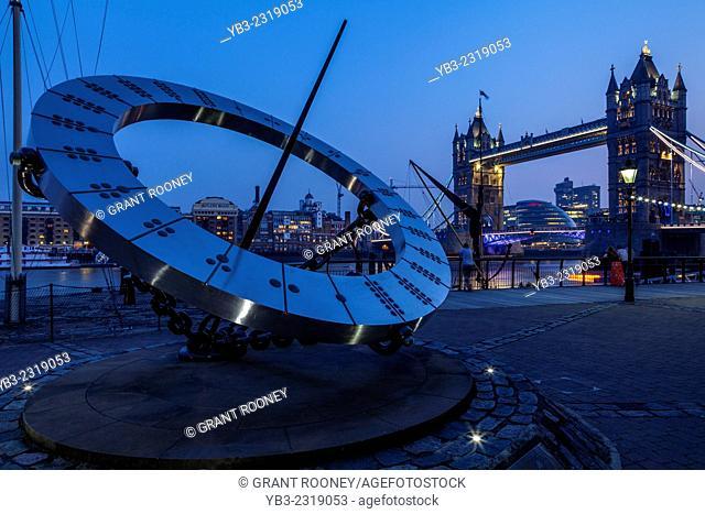 St Katherine's Dock Sundial, Jubilee Walkway, London, England