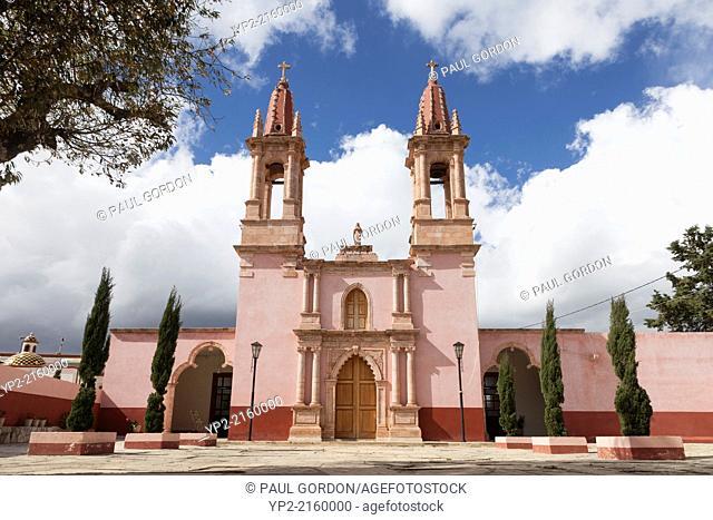 Church of the Sacred Heart of Jesus in the village of Santa Rosa de Lima - Guanajuato, Mexico