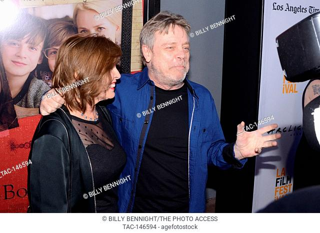 "Marilou York and Mark Hamill attend the opening night premiere of Focus Features' """"The Book of Henry"""" during the 2017 Los Angeles Film Festival at Arclight..."